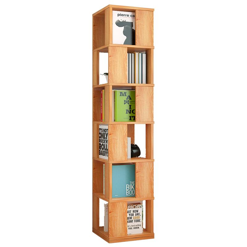 亿家达旋转书架落地置物架简易书柜学生创意书架多功能客厅储物柜