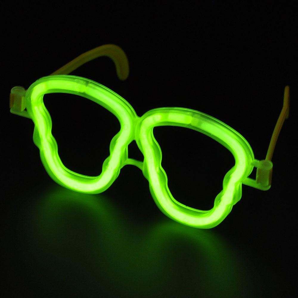 Niceglow精装版一次性骷髅眼镜荧光套装 荧光棒套装 夜光棒发光棒