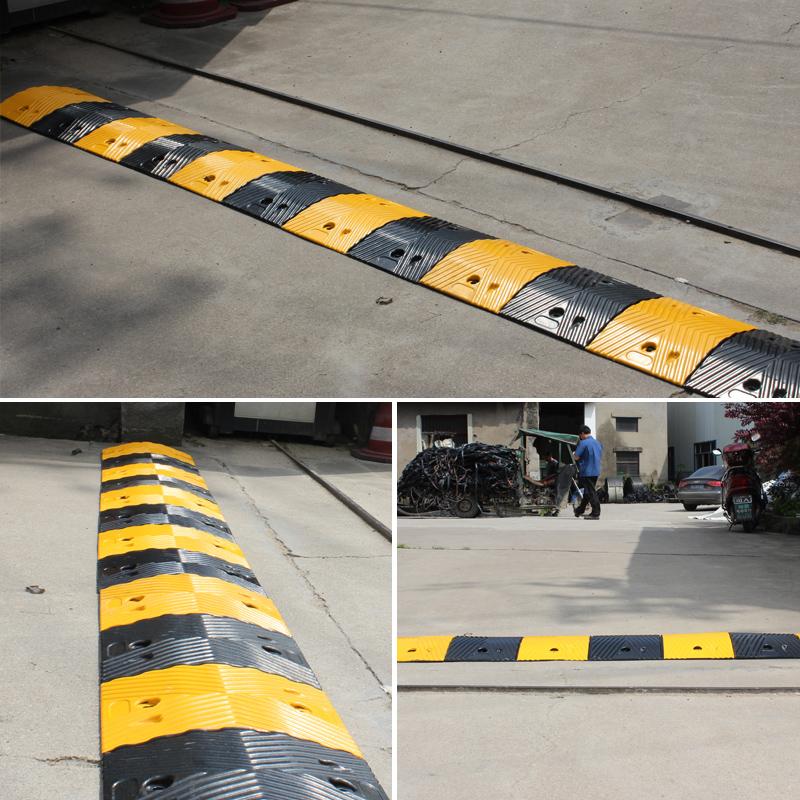 减速带橡胶道路减速带公路铸钢70mm加厚型三角铸铁乡村室内压线板