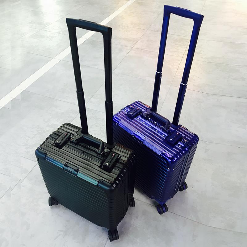 商務18寸拉桿箱電腦箱子登機箱小行李箱短途旅行箱包16/17寸橫款