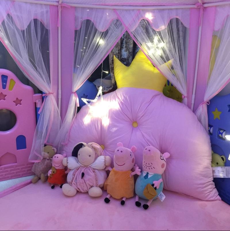 儿童帐篷过家家游戏屋六角大公主房宝宝室内玩具透气蚊帐粉色城堡