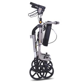 老年购物车手推车可坐四轮折叠老人助行车铝合金代步车买菜车轮椅