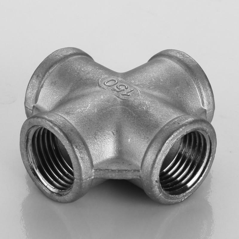 304不锈钢四通接头 内丝丝扣四通 不锈钢内螺纹四通 水管内丝四通
