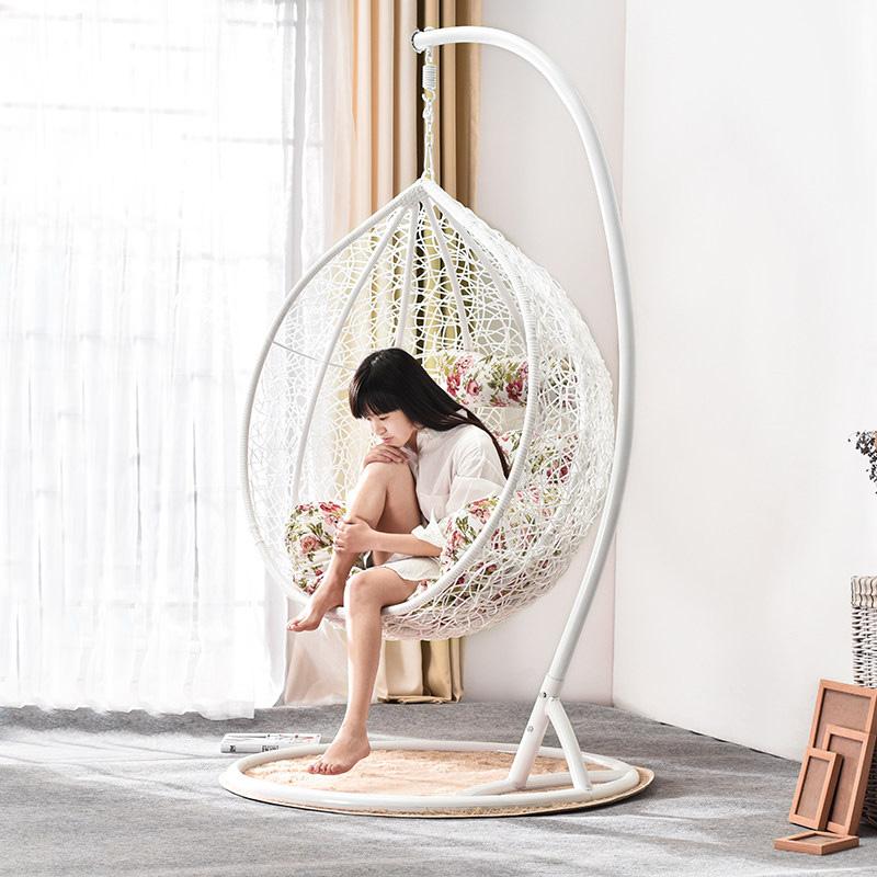 家逸 吊篮藤椅秋千户外椅成人吊椅室内阳台休闲鸟巢单双人摇篮椅