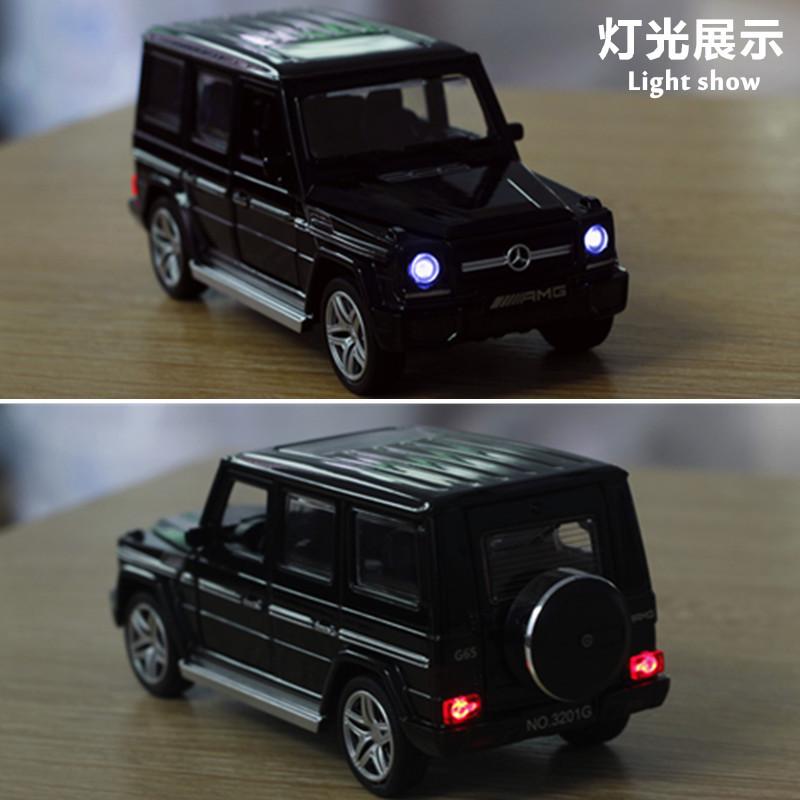 特价奔驰G65越野车合金模型4开门声光回力儿童汽车玩具摆件盒装