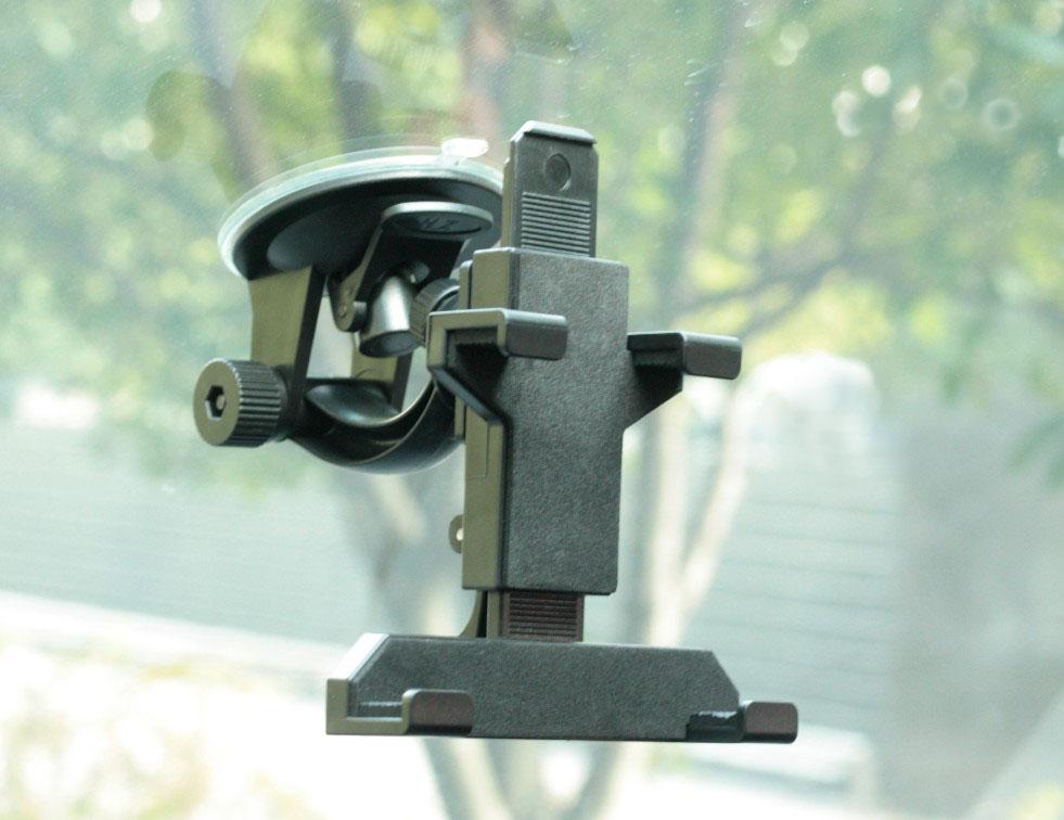 手机GPS导航仪后视镜行车记录仪5寸7寸8寸吸盘夹子式汽车车载支架