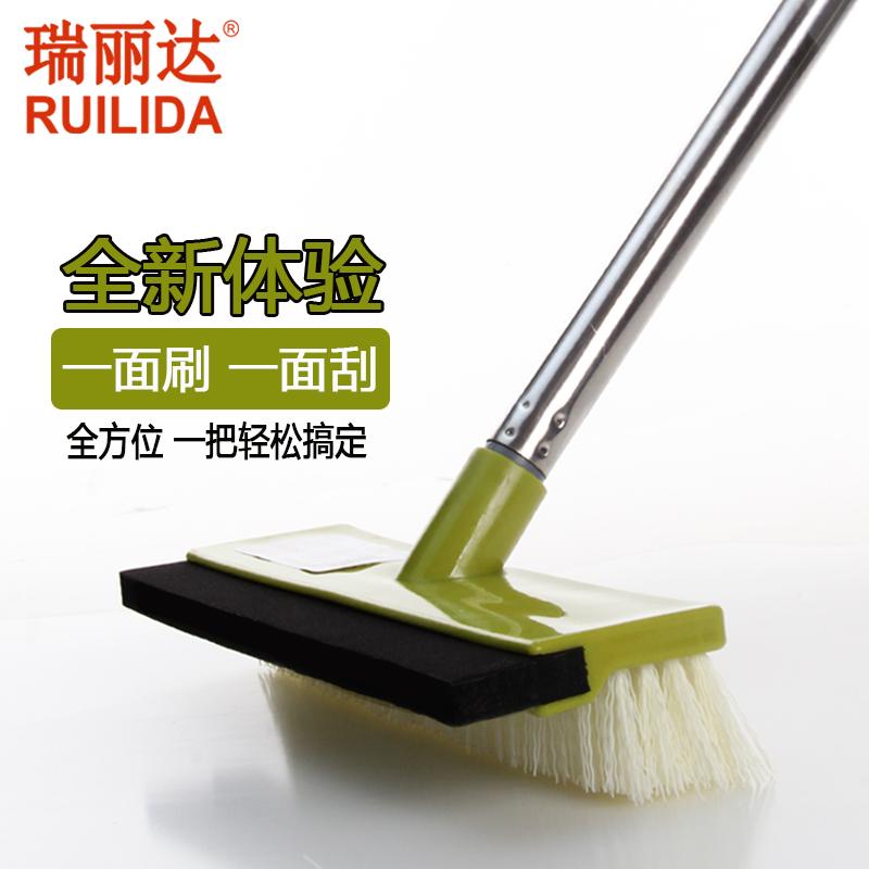 瑞麗達地刷不鏽鋼地板刷浴室瓷磚刷地清潔刷硬毛長柄刷子刮水地刮