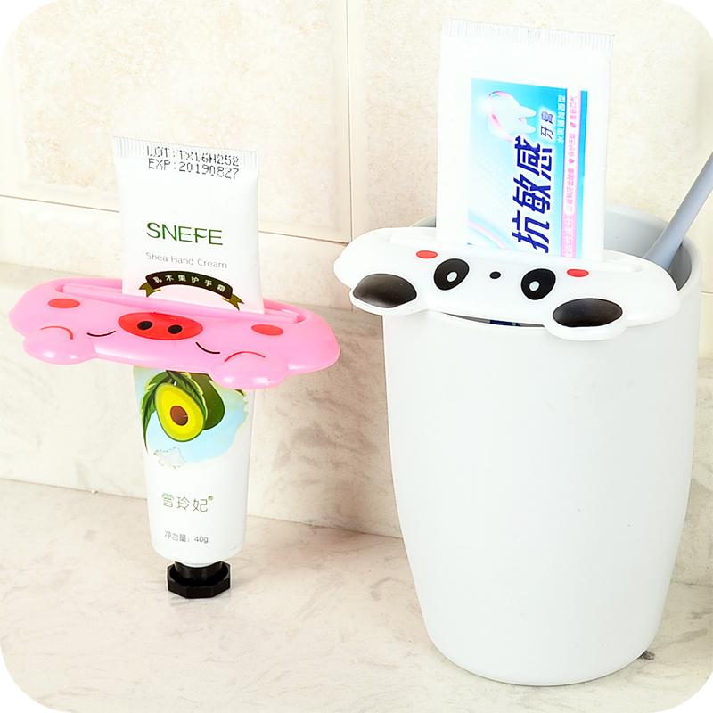 卡通造型挤牙膏器牙膏夹 创意可爱手动挤洗面奶牙膏便携懒人神器