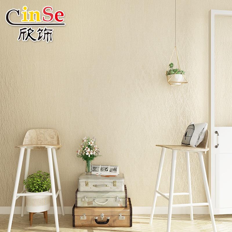 壁布蚕丝墙布无缝高档欧式纯色条纹卧室壁纸客厅简约现代素色墙纸