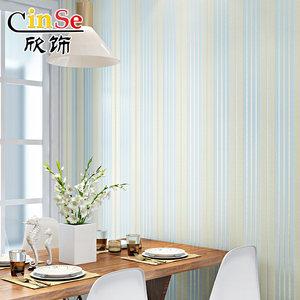 欣饰竖条纹壁纸3D无纺布墙纸卧室客厅美式简约现代背景墙中式家用