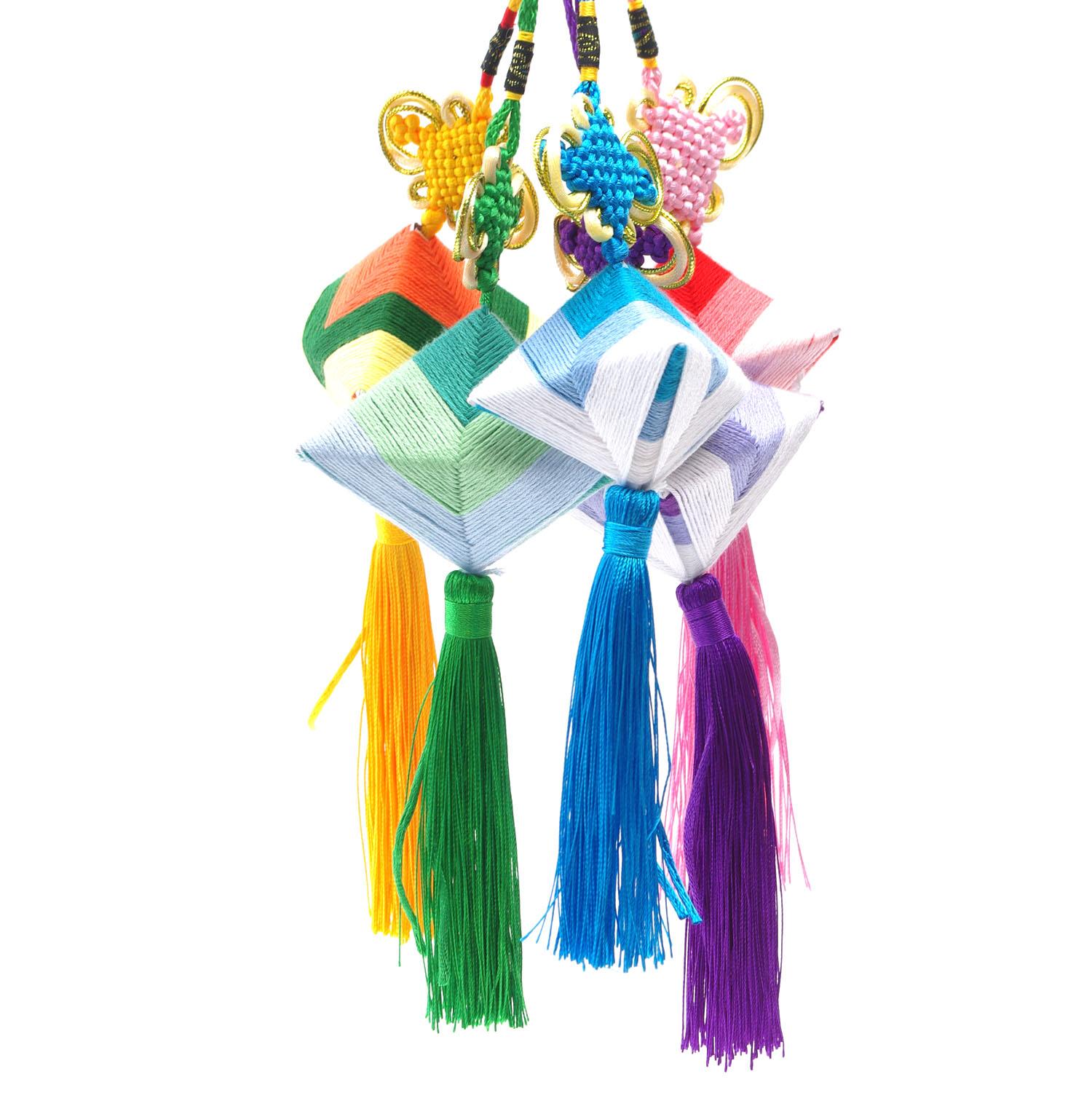 重阳节中国结香包五彩绳编织手工diy材料包福袋儿童创意粽子香囊