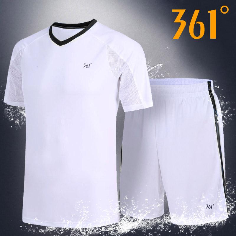 361運動套裝男裝2020夏季新款短袖短褲男子V領透氣速干健身運動服