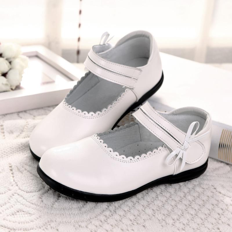 女童皮鞋软底公主鞋真皮小白鞋2019春夏季新款黑色童鞋儿童白皮鞋