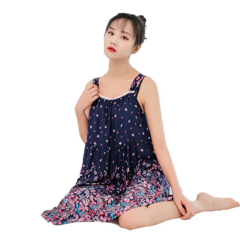 【天天特价】夏季宽松全棉性感吊带睡裙女大码绵绸睡衣连衣裙公主