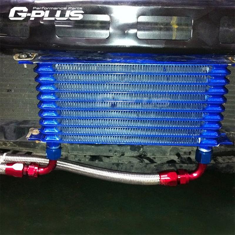 汽车改装日式机油散热器 变速箱油冷却器 7 10 15排日式油冷单件