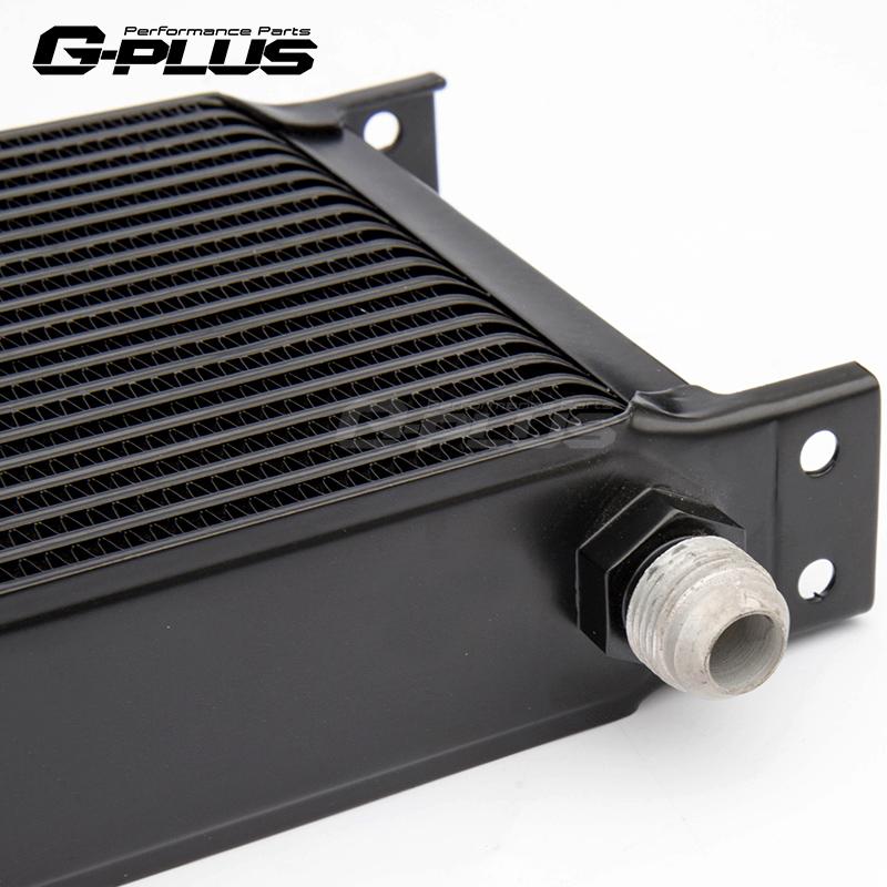 平角仰角分离节温器油饼16排英式密纹油冷日系汽车通用机油冷却器