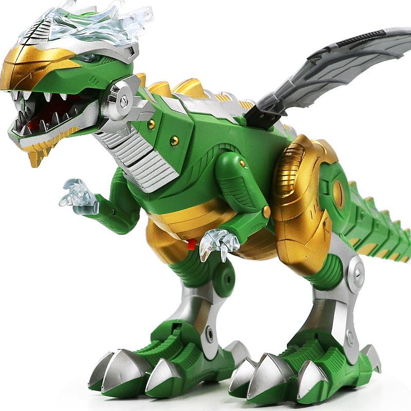 超大号机械龙电动仿真霸王龙走路智能机器人恐龙模型儿童男孩玩具