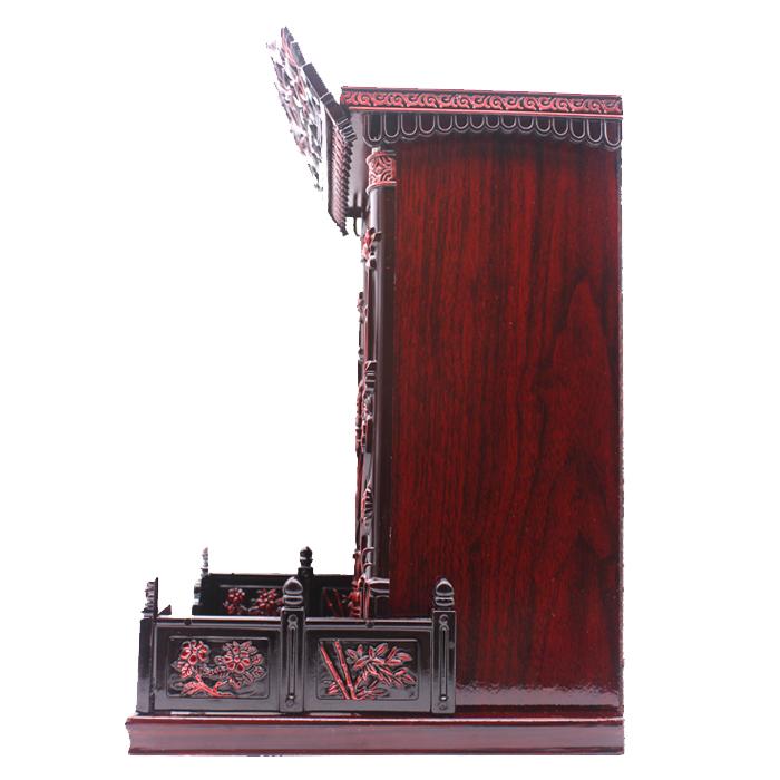 莲花柱佛龛吊柜佛柜供桌神台弥勒佛楼神堂柜子供财神观音壁挂式