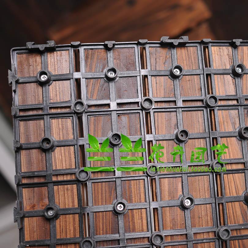 木地板园艺户外阳台地板碳化实木室外防腐木地板塑料防滑拉丝地板