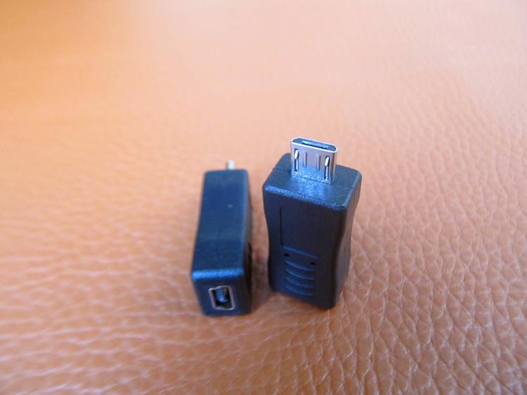 老款MP3介面轉普通安卓手機口微型micro公轉迷你mini usb母轉接頭