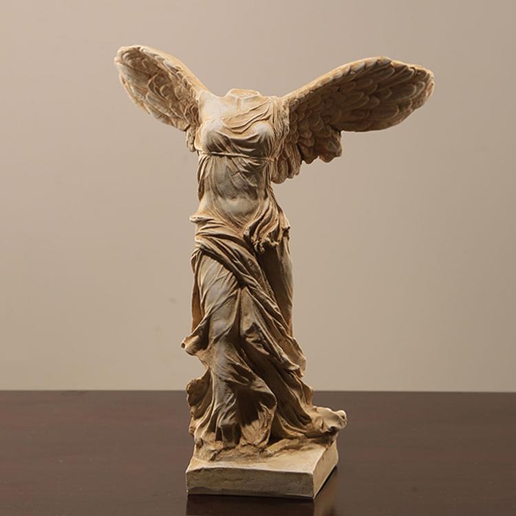 |盧浮宮勝利女神| 歐式軟裝擺件 樹脂工藝品天使雕塑裝飾擺臺人物