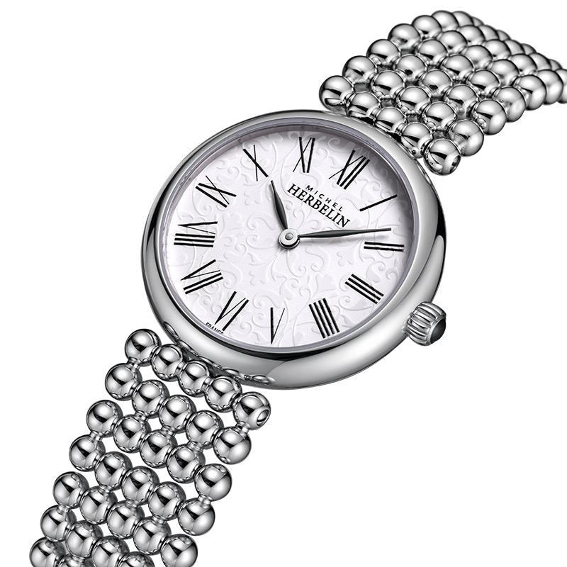 万表 法国赫柏林Herbelin 珍珠项链款时尚女表石英手表17483/B08
