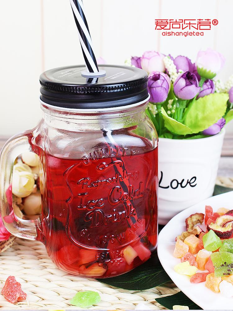 网红果干包邮真果粒花果茶组合新鲜 勺 送杯 罐装水果茶 3 怡瓣