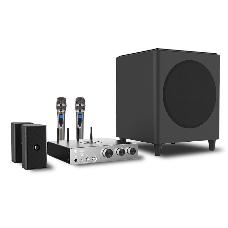 无线网络点歌机低音炮 KTV 家庭影院音响套装 HIFI2.1 超集 K70 BD 贝德