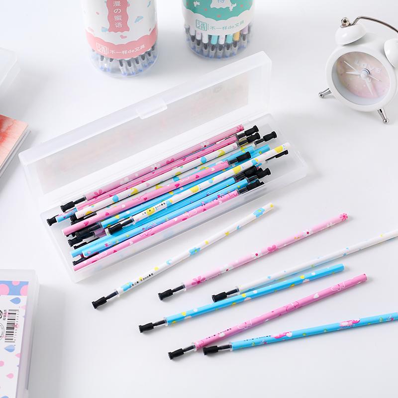 三年二班文具Z黑色中性笔芯水笔芯30/50支盒装笔芯0.5 0.38 0.35
