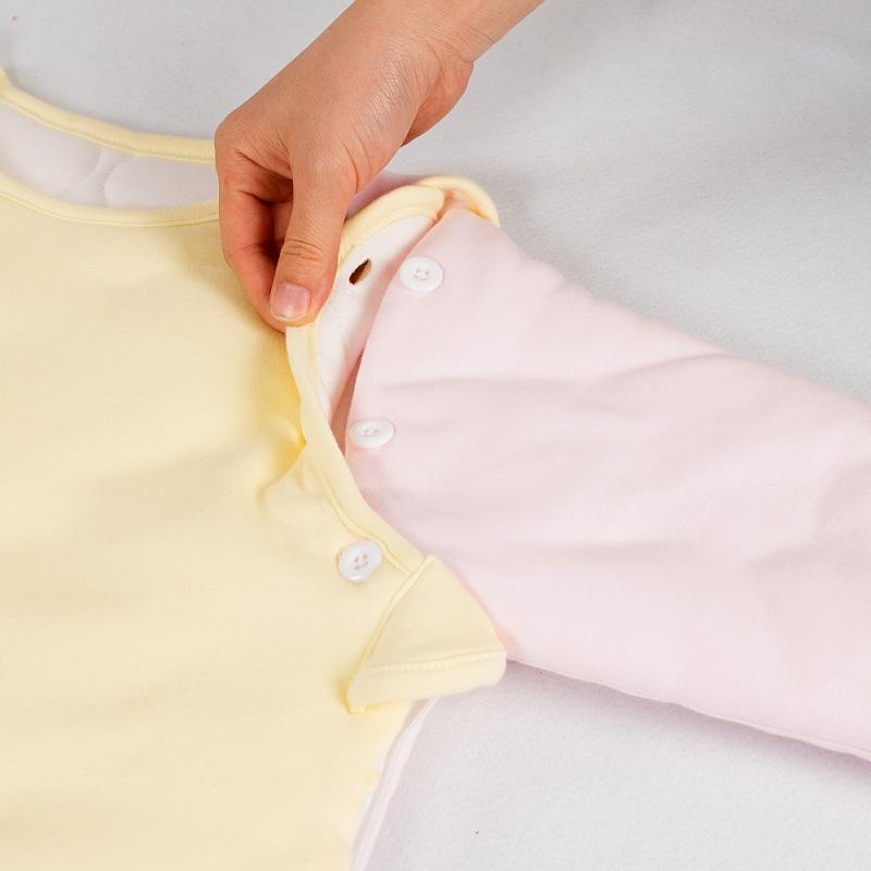 婴儿用品宝宝纯棉加厚蘑菇睡袋可拆脱袖背心防踢被神器春秋冬季款