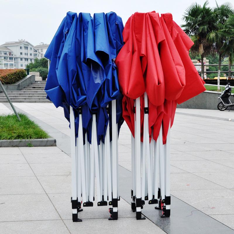 户外遮雨棚伸缩蓬摆摊用帐篷围布折叠四脚遮阳篷四方防雨四角大伞