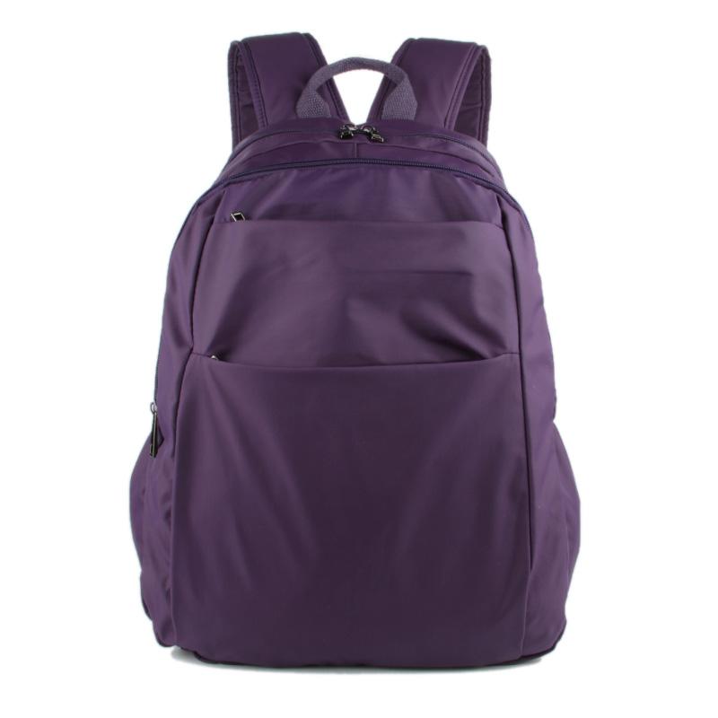 中号双肩包休闲女包轻薄柔软防水尼龙布料旅行背包潮流学生书包