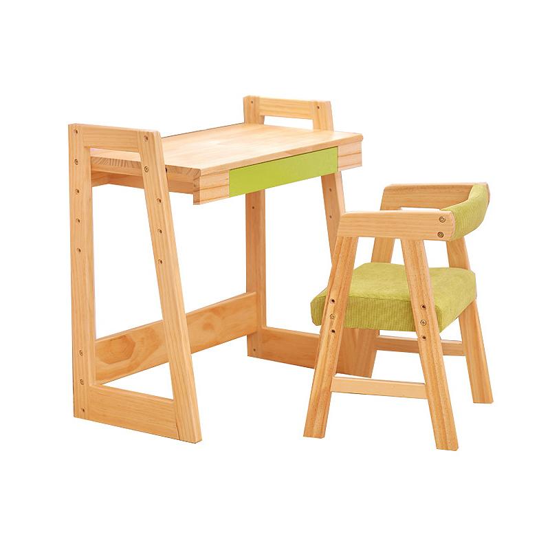 实木儿童书桌学习桌椅套装可升降小学生课桌椅组合简约宝宝写字桌