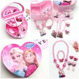 Children's Necklace Gift Set Frozen Princess Aisha rings bracelets hair accessories hairpin jewelry box