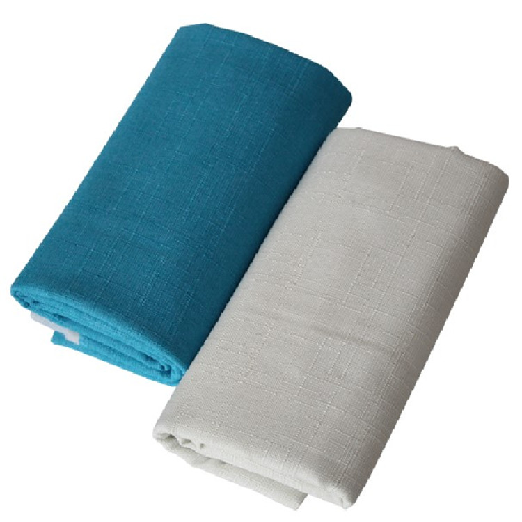 加厚竹节沙发套布料促销棉麻布餐椅软包背景亚麻抱枕面料桌布靠垫