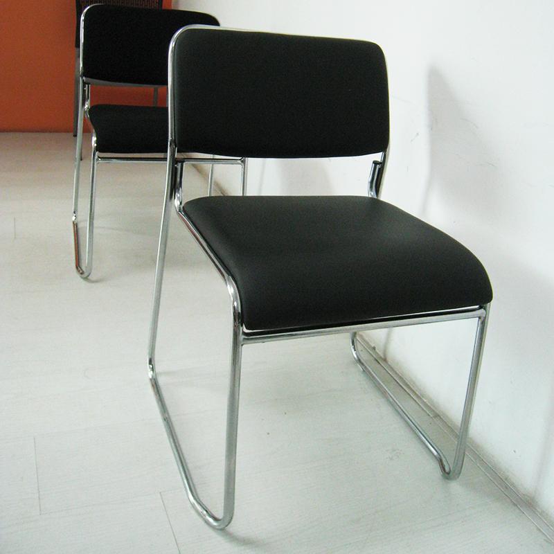 无扶手会议椅弓形简约网布办公椅会议室椅子培训椅职员电脑椅小巧