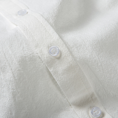 纯棉白衬衫男士长袖休闲小领修身白色衬衣韩版潮流帅气上衣打底寸