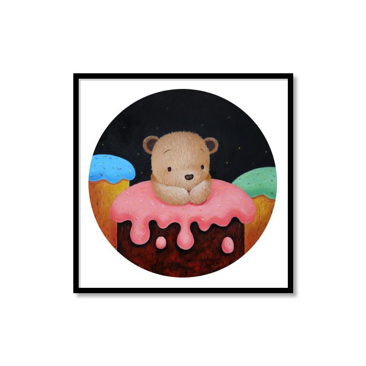 M.W【甜蜜蜜II】ins原创北欧小众北欧卡通艺术可爱儿童房装饰版画