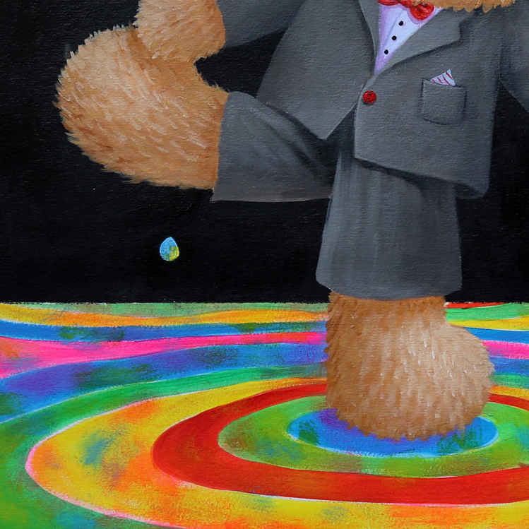 M.W【彩虹雨I】ins原创小众北欧现代卡通艺术宝宝儿童房装饰版画