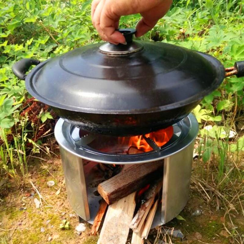便攜戶外野營用品野炊柴火爐子自駕遊野餐做飯露營燒木柴柴禾爐具