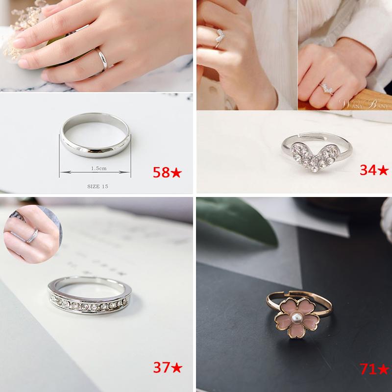 戒指女ins潮学生小众设计情侣尾戒冷淡风食指个性时尚对戒手饰品