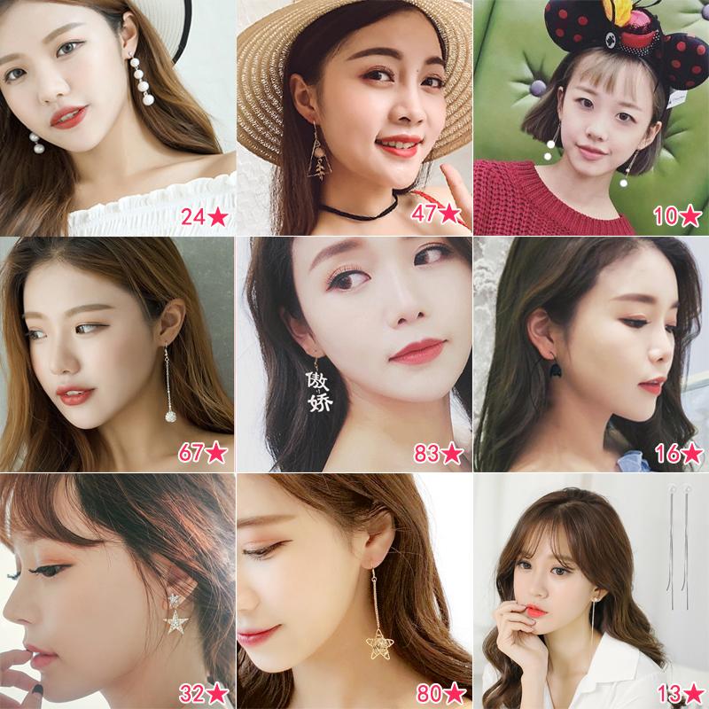 韩国网红显脸瘦耳环气质简约耳钉冷淡风超仙女耳坠个姓百搭耳饰品