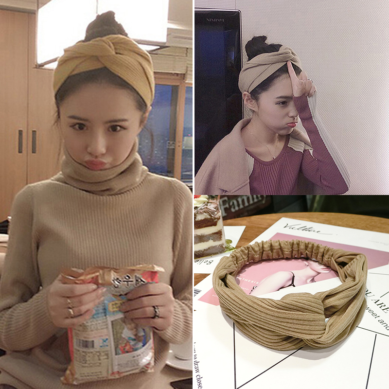 韩国甜美森女系束发带发绳发饰洗脸网红发箍简约发卡女头饰品头箍