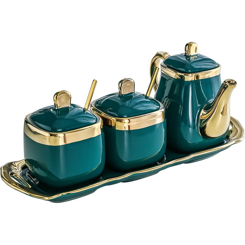 陶瓷调味罐套装调料罐子组合装盐糖罐味精调料盒轻奢厨房用品家用【图5】