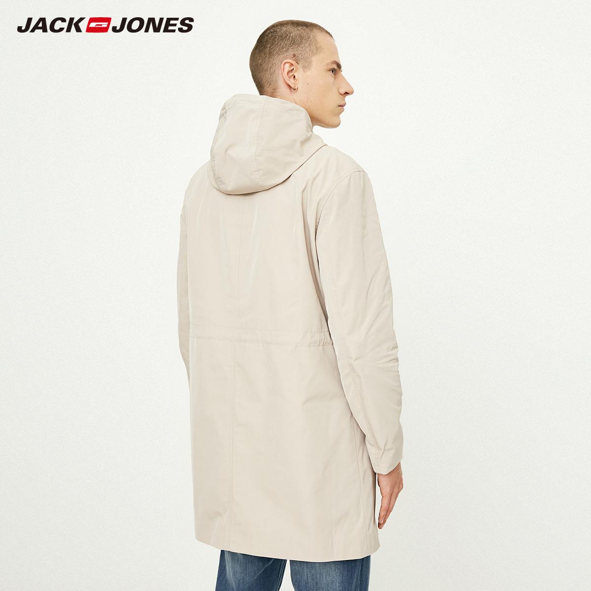 218321522 JackJones  绫致 杰克琼斯男初秋连帽休闲商务中长外套