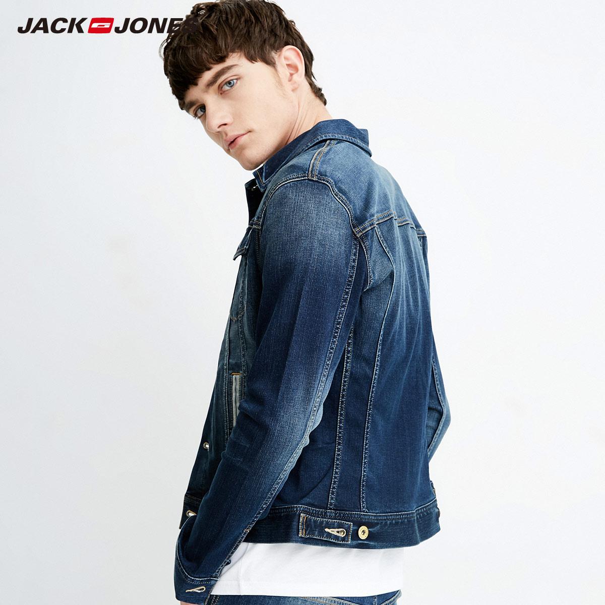 绫致JackJones/杰克琼斯男春夏新短款牛仔夹克外套|218157505