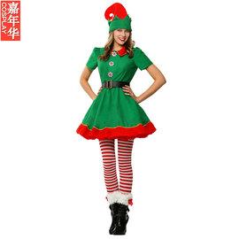 Cosplay圣诞节服装 表演演出服 女孩圣诞精灵服装 圣诞老人小帮手