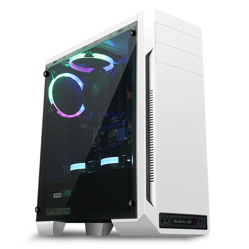 整机全套 DIY 台式办公游戏组装电脑主机 8100 升 7100 i3 送显示器酷睿