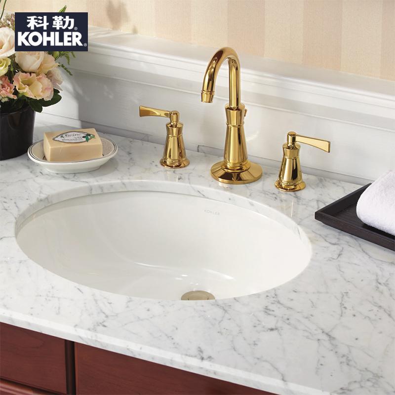卡斯登陶瓷洗脸盆洗手盆嵌入式面盆椭圆形台盆 2211T K 科勒台下盆