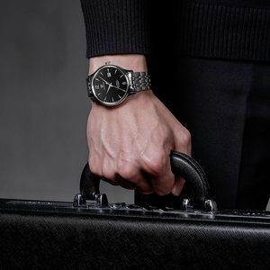 天王表正品男表防水自动机械表经典钢带男士手表潮流休闲腕表5845